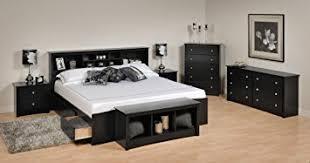 Storage Bed Sets King Sonoma Platform Storage Bedroom Set King 6 Black