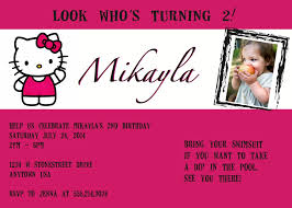 Hello Kitty Birthday Invitation Card Made With Love And Glue Always Made With Love Sometimes With Glue