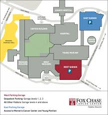 parking and drop off fox chase cancer center u2013main campus fox