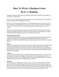formal letter guidelines formal business letter format official