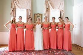 coral and gold bridesmaid dresses coral bridesmaid dresses dressed up
