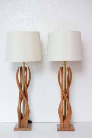 Whimsical Floor Lamps Mid Century Modern Danish Style Teak Wood Table Lamps