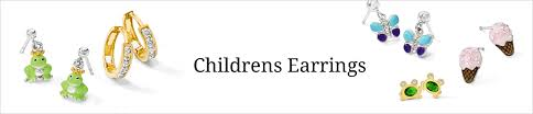 children s earrings shop childrens earrings quality gold