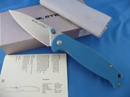 real steel h6 elegance linerlock g10 blue knife 7612 ebay
