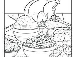 thanksgiving feast coloring pages thanksgiving dinner coloring page
