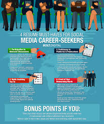 Media Resume 4 Resume Must Haves For Social Media Career Seekers Bolt Digital