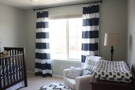 Blue And White Striped Drapes Benjamin Moore Gray Owl Nursery