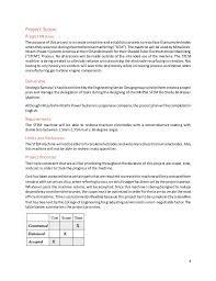 final project management plan