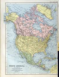 Longitude Map North America Map Including Central America Bugbog Reference Map