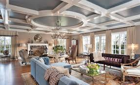 coffered ceiling paint ideas coffered ceilings in 15 contemporary living rooms home design lover