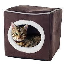 fingerhut paw cozy cave enclosed cube pet bed small medium
