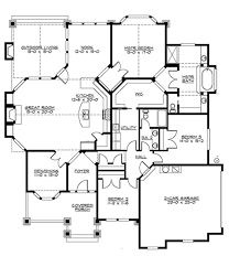 Free 3 Bedroom Bungalow House Plans by Craftsman 3 Beds 2 Baths 2320 Sq Ft Plan 132 200 Main Floor Plan