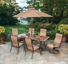 Outdoor Furniture Naples by Agio Burgundy Sling Aluminum Dining Patio Set Naples Lauras Home