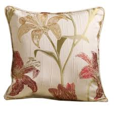 homescapes red cream jacquard scatter cushion cover 17x17 inch