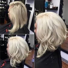 picture long inverted bob haircut curly angled bob hairstyle for women modern white blonde hair