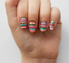 figuras geometricas uñas uñas tribal tendencia 2013 nails pinterest