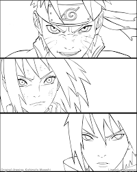 naruto team 7 reunion lineart by graypapaya lineart naruto