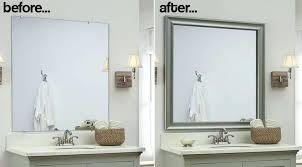 Metal Framed Mirrors Bathroom Silver Framed Mirror Bathroom Bold Design Metal Framed Mirrors