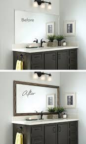 Frame Your Bathroom Mirror Bathroom Cabinets Silver Bathroom Mirror For Your With Bathroom