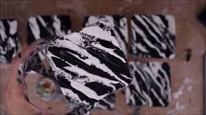 Zebra Home Decor by Diy Coasters Home Decor Zebra Print Black U0026 White Painting