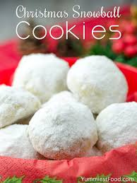 christmas snowball cookies recipe from yummiest food cookbook