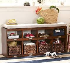 entryway bench with baskets and cushions 20 best storage bench images on pinterest entryway bench foyer