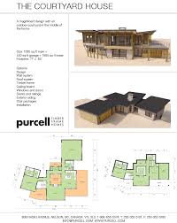 purcell timber frames homes and floorplans the courtyard house