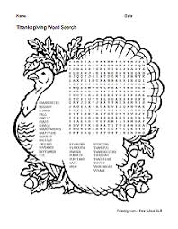 thanksgiving word search freeology