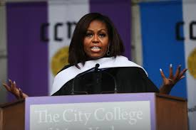 michelle obama hits at donald trump in cuny grad speech time com