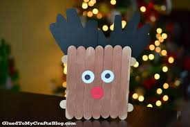 popsicle stick reindeer kid craft