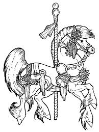 carousel horse coloring beautiful carousel horse colouring