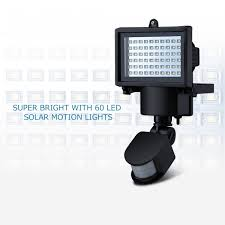 led solar security light mpow solar motion sensor lights 60 led waterproof solar powered