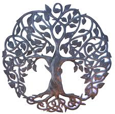 haiti metal art recycled tree of life wall art organic spiritual
