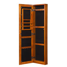 Jewelry Armoire Clearance Furniture Wall Mounted Oak Full Length Mirror Jewelry Armoire For