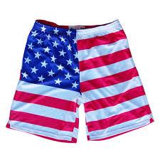 Mens Flag Shorts American Flag Sublimated Lacrosse Shorts Amazon Com