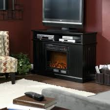 White Electric Fireplace With Bookcase Gotham Electric Fireplace Media Console In Black Entertainment