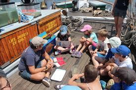 camp kids board clearwater u0027s first education sail of the season wamc