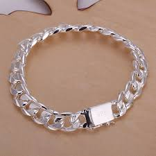 solid sterling silver mens bracelet images High quality fashion solid 925 sterling silver 10mm men men 39 s male jpg