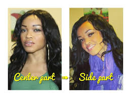 hair braid for a closure easy braid pattern for center to side part closures wigs youtube