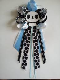 panda baby shower pin corsage