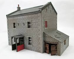country house with porch and out building kit h0 oo scale
