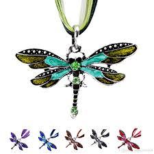 charm necklace vintage images Wholesale vintage dragonfly pendant necklace for women lady jpg