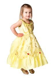 toddler yellow princess belle beauty dress costume girls