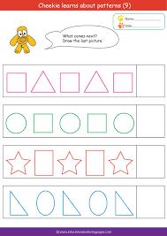 pattern worksheets for kids mreichert kids worksheets