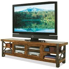 Tables Made From Doors by Riverside Sierra 80 In Tv Console Landmark Worn Oak Hayneedle