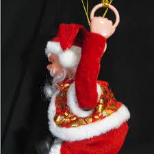 parachuting flipping santa musical ornament