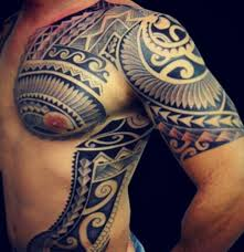 black polynesian sun tattoos on leg photos pictures and