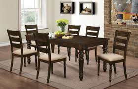 Brown Dining Room Annandale Antique Tobacco Brown Finish 7 Pc Dining Set Orange