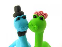 dino love custom wedding cake topper bride and groom 2538127
