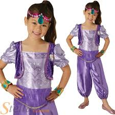 girls shimmer u0026 shine shimmer fancy dress costume book day genie